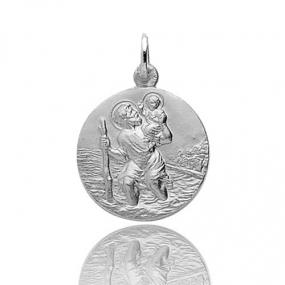 Médaille Saint Christophe Or Blanc 1.9g Juliana - 9K20067GR