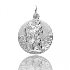 Médaille Saint Christophe Or Blanc 3.2g Mayla - 20068G