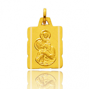 Médaille Saint Christophe Or Jaune 0.85g Rosemary - 9K20729