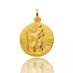 Médaille Saint Christophe Or Jaune 1.85g Yasmine - 9K20067