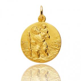 Médaille Saint Christophe Or Jaune 2.6g Tiffany - 9K20068