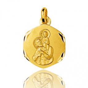 Médaille Saint Christophe Or Jaune 2g Isis - 33216