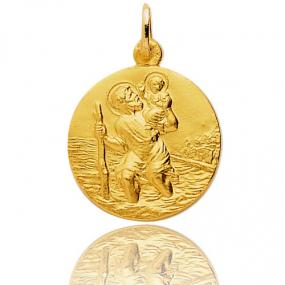 Médaille Saint Christophe Or Jaune 4.45g Nayla - 20069