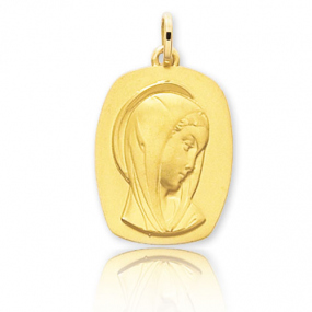 M�daille vierge  Or Jaune  Ma�lle