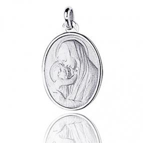 Médaille vierge  Or Blanc  Sofia