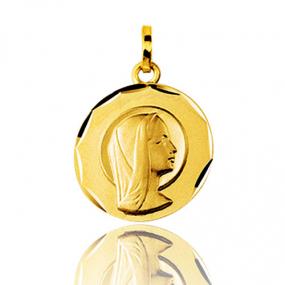 Médaille vierge  Or Jaune 15 mm Nina