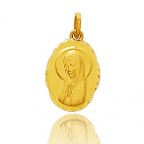 M�daille vierge  Or Jaune  Hannah
