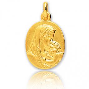 Médaille vierge  Or Jaune  Karine