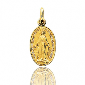 Médaille vierge  Or Jaune  Krystina