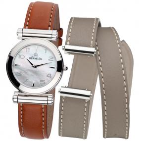 Montre Herbelin Antares - bracelet Interchangeable acier et cuir - COF.17443/19GTL