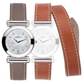 Montre Herbelin Antares - bracelet Interchangeable acier et cuir - COF.17443/29TGL