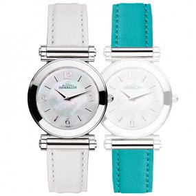 Montre Herbelin Antares - bracelet Interchangeable acier et cuir - COF.17443/29WTU
