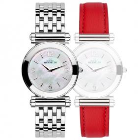 Montre Herbelin Antares - bracelet Interchangeable acier et cuir - COF.17443/B29RO