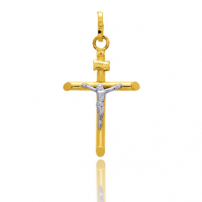 Pendentif Croix Christ 2 Ors Rosemary