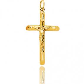 Pendentif Croix Christ crucifié  Or Jaune Delphine