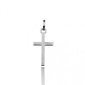 Pendentif croix Or Blanc Cynthia