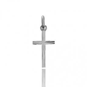 Pendentif croix Or Blanc Emilie
