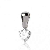 Pendentif diamant Or Blanc 0.15 ct ct Rose