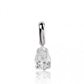 Pendentif diamant Or Blanc 0.35 ct ct Azaly