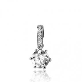 Pendentif diamant Or Blanc 0.50 ct ct Amoureuse