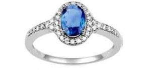 Bague diamant bleu pas cher