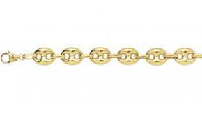 Bracelet homme collection surprenante au meilleur prix - Chaine graine de cafe or homme ...