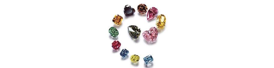 Les diamants de couleurs