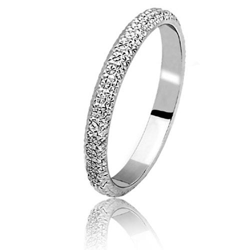 Bague de mariage femme or blanc pas cher