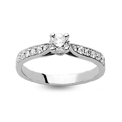 Souvent Bague de fiancaille Cocoon accompagnée de diamants - 4S041-0.40 ZE99