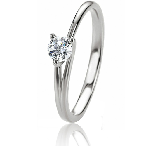 Bague femme or blanc simple