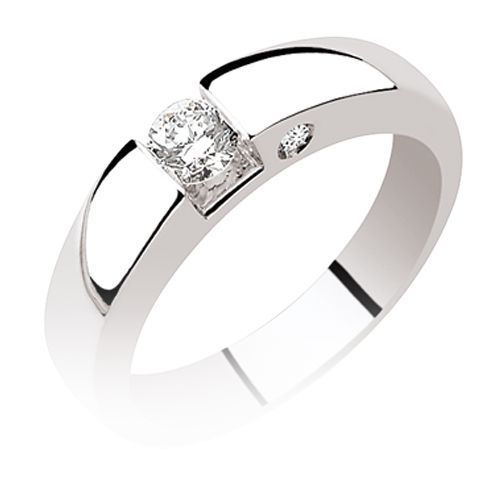 Super Bague solitaire en Or Blanc - Fannie - 7150-91J533 RI37