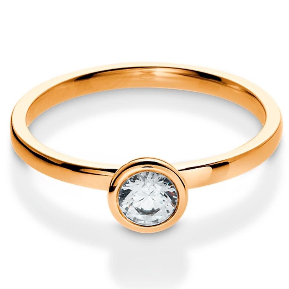 Bague de mariage diamant or rose Fannie
