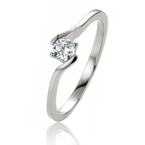 Favori Bague solitaire en Or Blanc - Isabella - 41-05297 ZE36