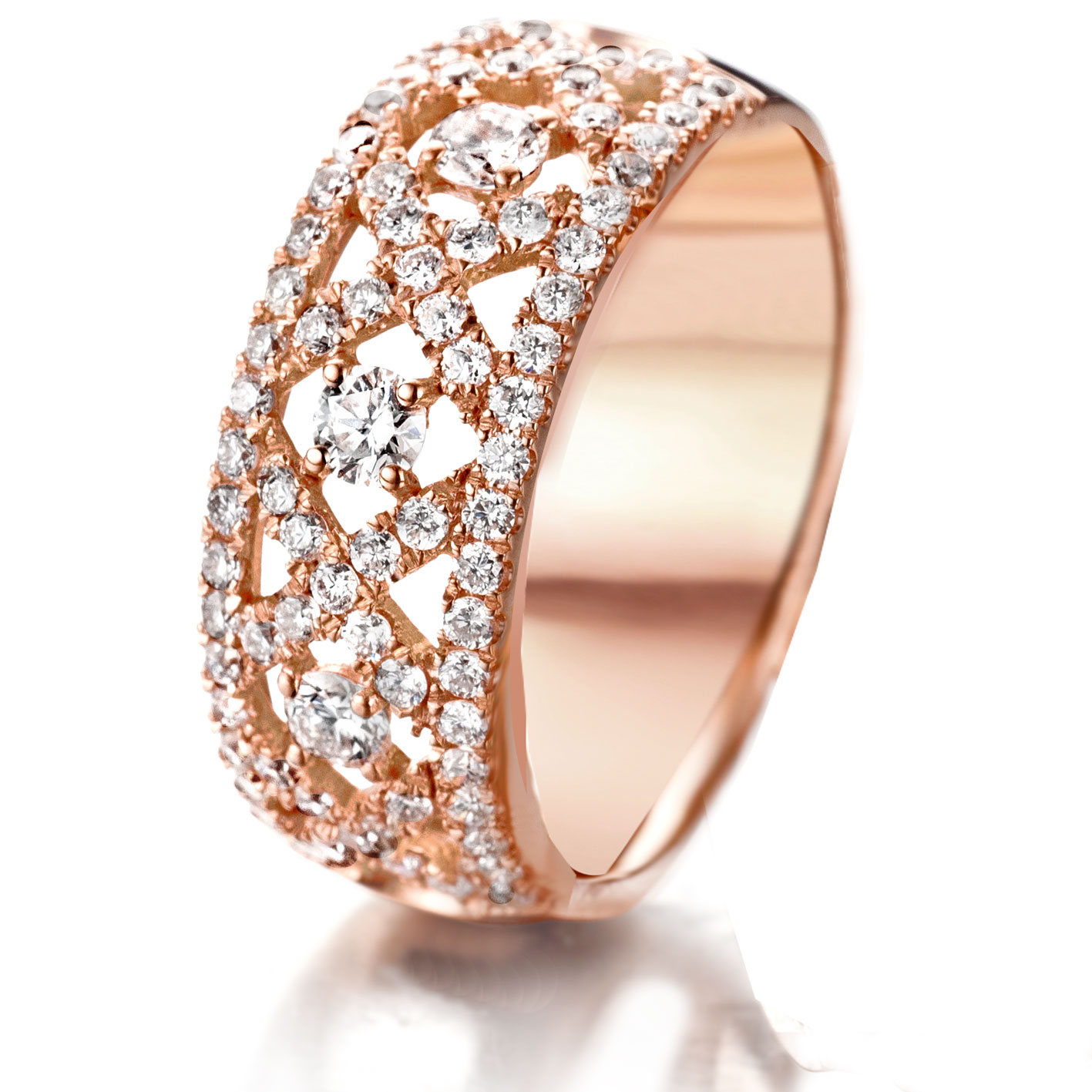 Très Bague diamant en or rose 0.9 ct - 53190 - PX55