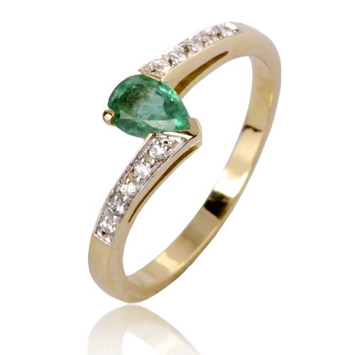 Célèbre Bague émeraude en Or Jaune diamant Myriam - 12577EM TH47