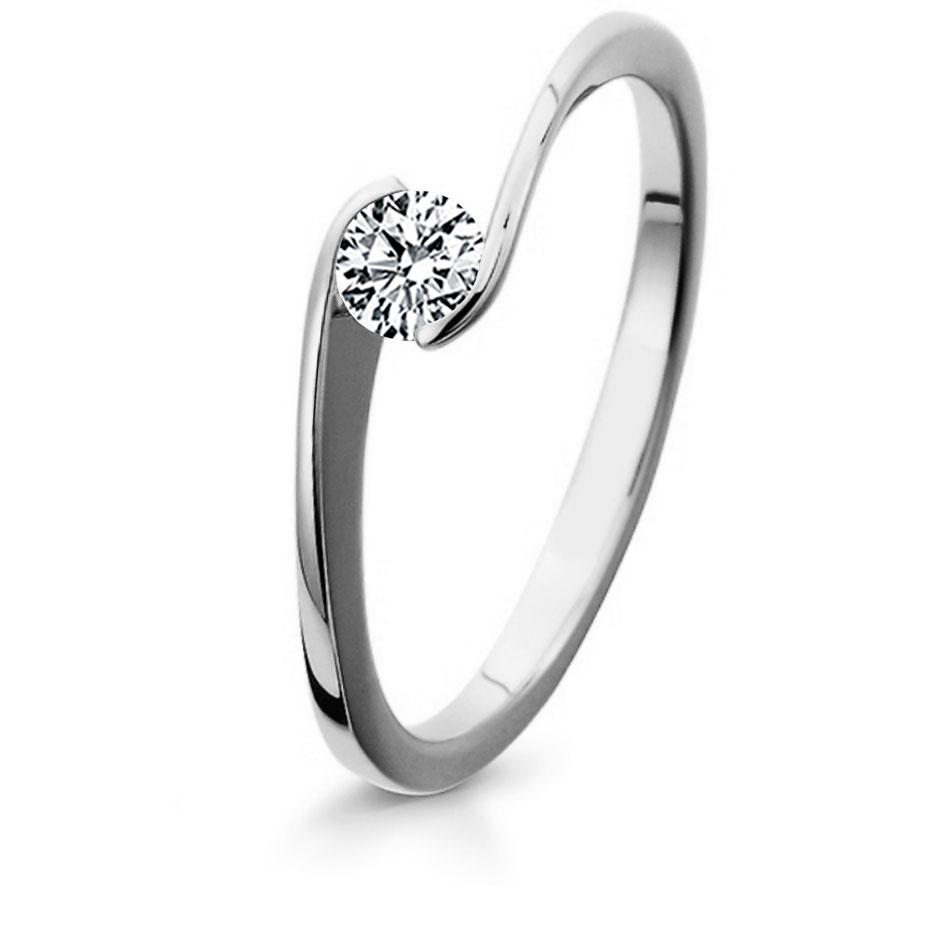 Bague mariage diamant or blanc Violaine