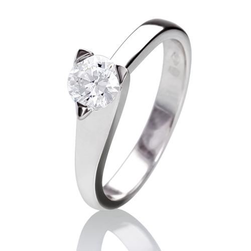 bague solitaire moderne diamant