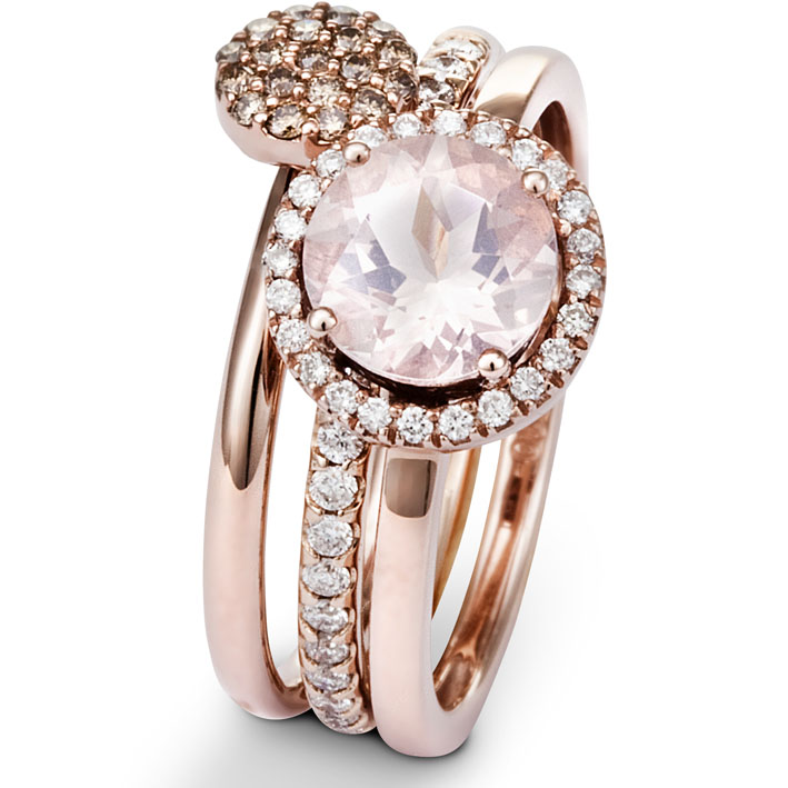 Assez Bague de Fiancaille en Or Rose One More - 050505XA CY01