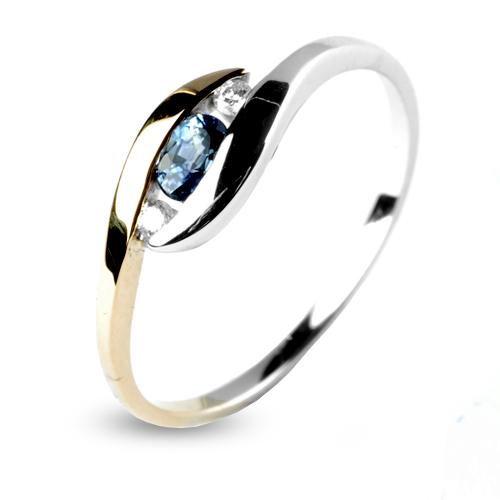 Exceptionnel Bague saphir bleu en 2 Ors Emeline - 12574-SA PN24