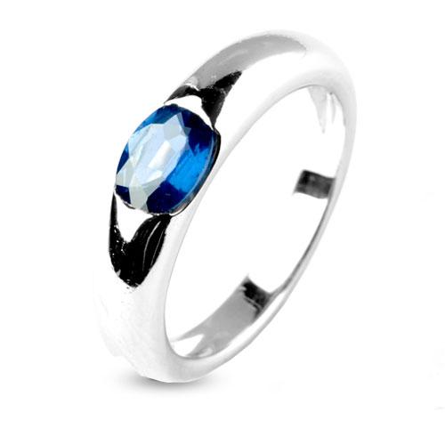 Connu Bague saphir bleu en Or Blanc Chloé - 9806-SA MT69