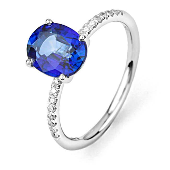 Exceptionnel Bague saphir bleu en Or Blanc - R6628FMPWAQ14 XP89