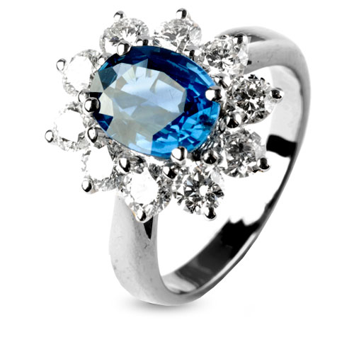 Bien connu Bague saphir bleu en Or Jaune Rosalie - 10906-SA XI86