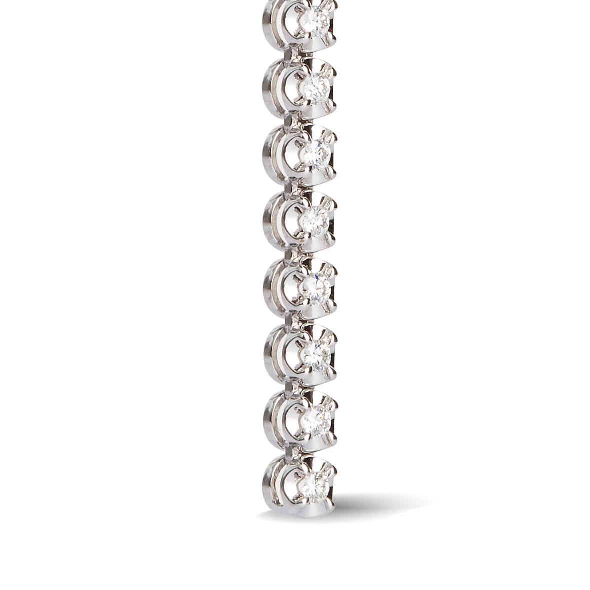 boucle d oreille diamant tendance or blanc hse2001pr. Black Bedroom Furniture Sets. Home Design Ideas