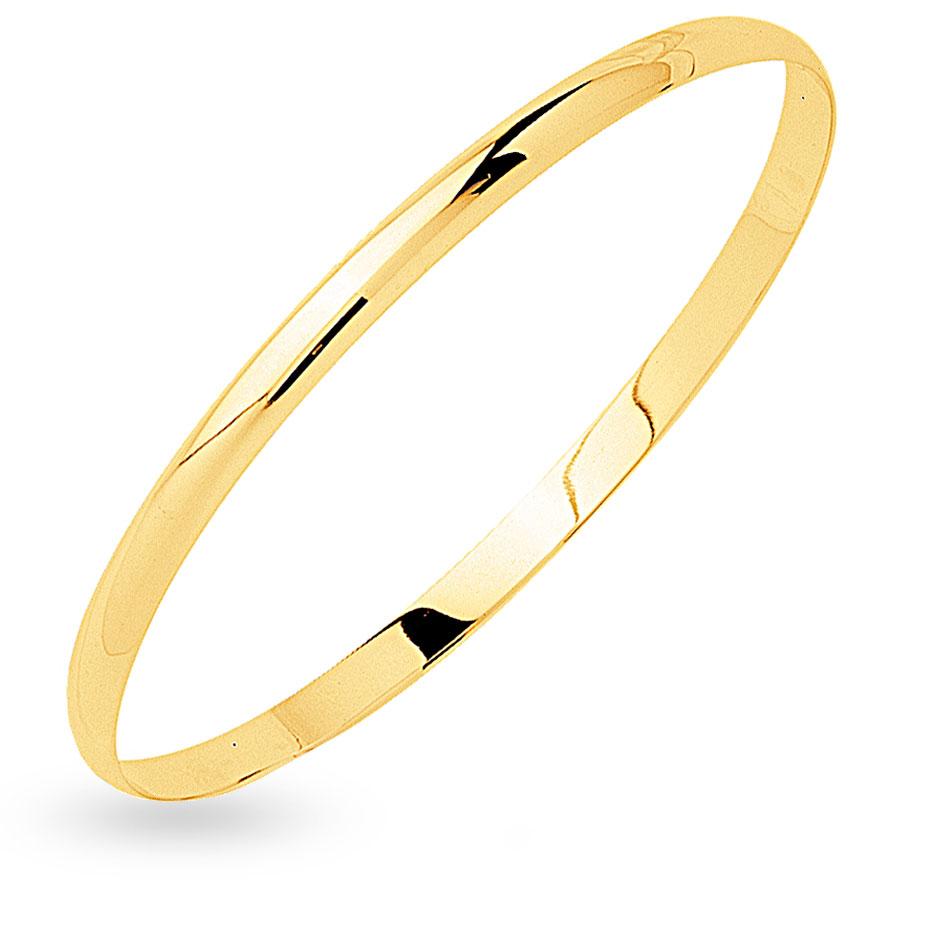 Bracelet jonc or jaune pas cher