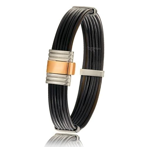 bracelet poils d 39 l phant or acier albanu 699elttorrose. Black Bedroom Furniture Sets. Home Design Ideas