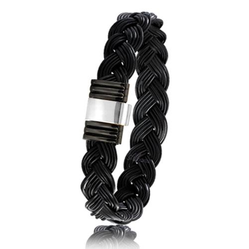bracelet poils d 39 l phant or pvd albanu 699ntelorblanc. Black Bedroom Furniture Sets. Home Design Ideas