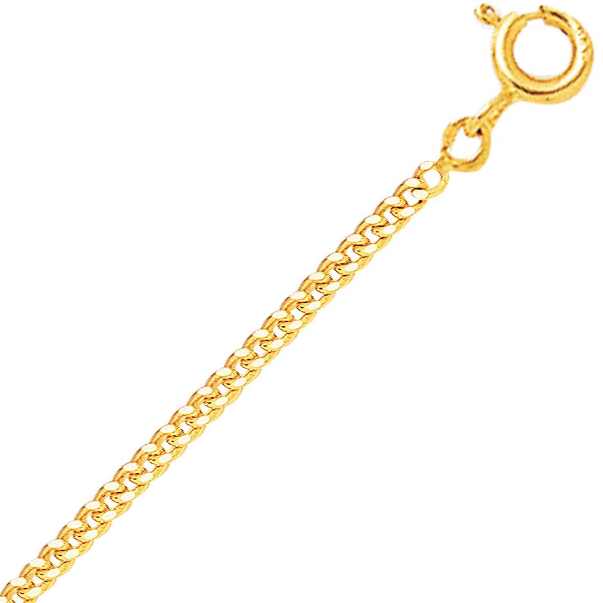 complet dans les spécifications nouvelles photos dernier Chaine en or 9 carats maille Gourmette 2.9g Louna