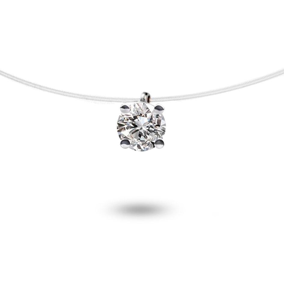 collier diamant fil peche