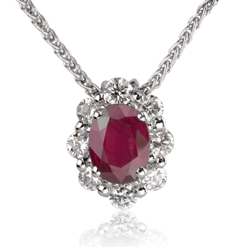 collier rubis diamant en or blanc maya cl3827. Black Bedroom Furniture Sets. Home Design Ideas