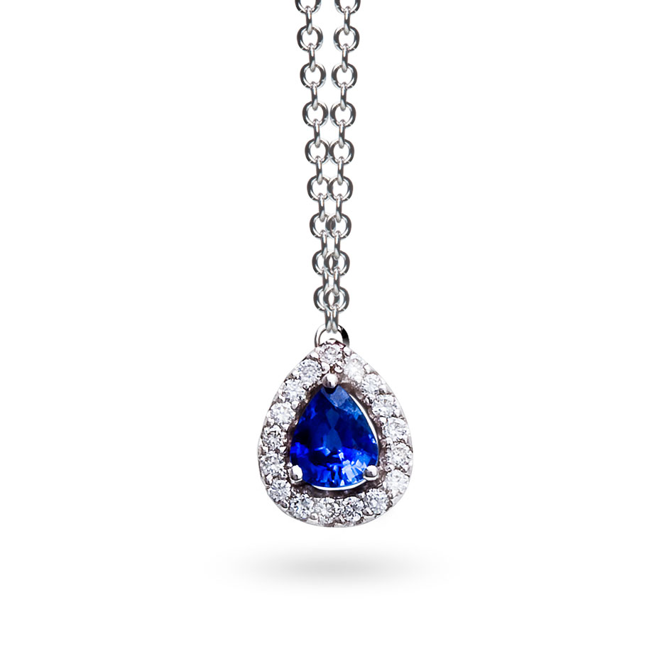 collier diamant et saphir
